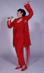 Christine Pedi as Lizain Forbidden Broadway 2001(Photo: Carol Rosegg)
