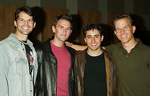 J. Robert Spencer, Daniel Reichard, John Lloyd Young, and Christian Hoff