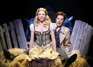 Sutton Foster and Roger Bart in Young Frankenstein