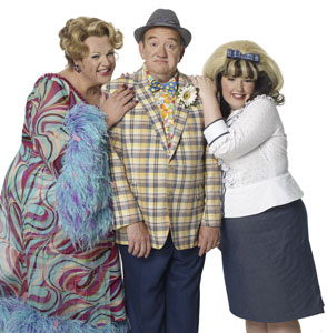 Michael Ball, Mel Smith, and Leanne Jones in Hairspray