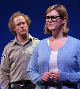 Raphael Sbarge and Sara Rue in Little Egypt