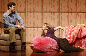 Adam Green and Halley Feiffer in None of the Above (© Carol Rosegg)