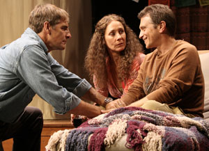 Scott Bakula, Laurie Metcalf, and Dennis Boutsikaris in The Quality of Life (© Michael Lamont)