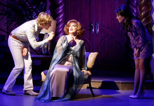 Van Hansis, Charles Busch, and Ashley Morris