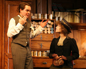 Jefferson Mays and Claire Danes in Pygmalion
