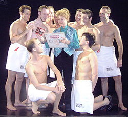 Sandra Church with the Naked Boys(Photo: H.E. Yhoman)