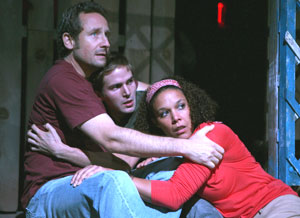Sam Robards, Michael Stahl-David, and Linda Powell