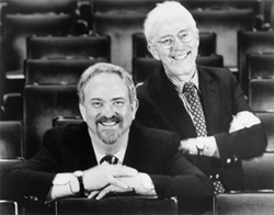 Harvey Schmidt and Tom Jones, authors ofCelebration, which is featured in the York Theatre'scurrent Musicals in Mufti season