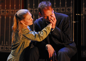 Ashley West and Mark L. Montgomery in The Runner Stumbles (© Jennifer Maufrais)