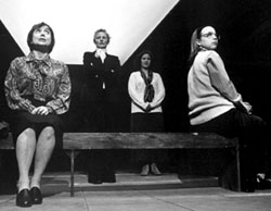 Nancy Franklin, Laurie Williams, Ann Talman,and Alicia Goranson in Cat's Paw(Photo: Paula Court)
