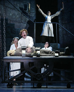 Shuler Hensley, Sutton Foster, Roger Bart,