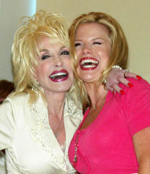 Dolly Parton and Megan Hilty