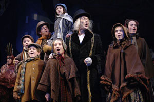 James Carpenter and company in A Christmas Carol (© Kevin Berne)