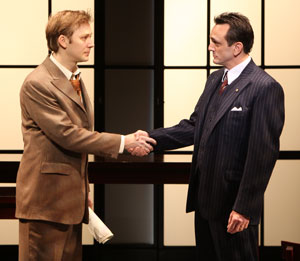 Jimmi Simpson and Hank Azaria in The Farnsworth Invention