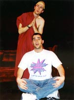 Jason O'Leary (top) andRichard Bubbico in Sting Operation(Photo: Daisy Baldwin)