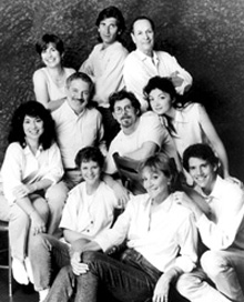 TACT's founding members:(standing:) Lynn Vogt, Gregory Salata,and Larry Keith(middle row:) Jo-Ann Salata, Paul Hecht,Scott Alan Evans and Francesca Di Mauro(front row:) Maia Danziger, Cynthia Harris,and Ryan Bowker