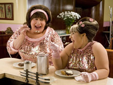 John Travolta and Nikki Blonsky