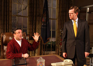 Nathan Lane and Dylan Baker in November
