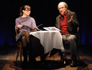 Elizabeth Marvel and F. Murray Abraham in Almost an Evening (© Doug Hamilton)
