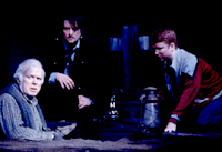 Kevin Tighe, Christopher Evan Welch,and Christopher Carleyin A Skull In Connemara(Photo: Joan Marcus)