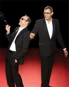 Kevin Spacey and Jeff Goldblum