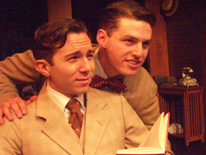 Aaron Himelstein and Nick Niven in Dickie & Babe: The Truth About Leopold & Loeb (© Rick Baumgartner)