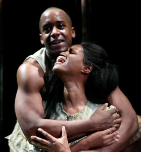Albert Jones and Toi Perkins in Oroonoko