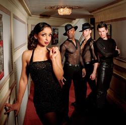 Mya and company in a publicity shot for Chicago