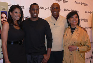 Audra McDonald, Sean Combs, Kenny Leon, and Phylicia Rashad at the TimesCenter