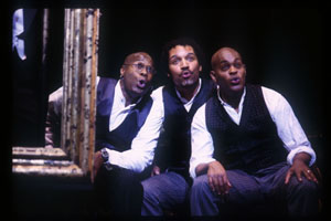 Everett Bradley, Todd Hunter,and Jubilant Sykes in Bloomer Girl(Photo: Joan Marcus)