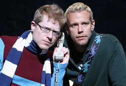 Anthony Rapp and Adam Pascal in Rent (© Joan Marcus)