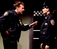 Tate Donovan and Heather Burnsin Lobby Hero(Photo: Joan Marcus)