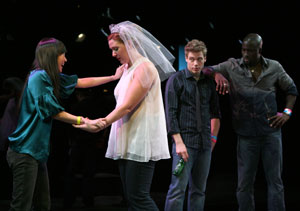 Sue Jean Kim, Cassie Beck, Barrett Foa, and Mike Colter