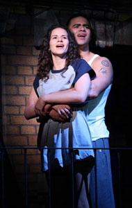Mandy Gonzalez and Christopher Jacksonin In the Heights