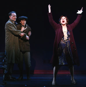 Boyd Gaines, Laura Benanti, and Patti LuPone in Gypsy (© Joan Marcus)