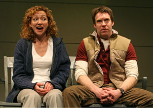 Julie White and Brian Hutchison in From Up Here