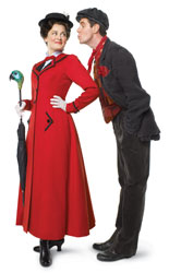 Ashley Brown and Gavin Lee  in Mary Poppins (© George Holz)