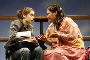 Cristin Milioti and Carmen M. Herlihy in crooked