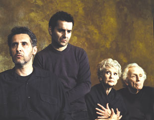 John Turturro, Max Casella, Elaine Stritch, and Alvin Epsteinin Endgame