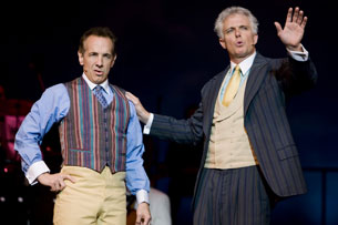 Jason Graae and Patrick Cassidy in The Music Man