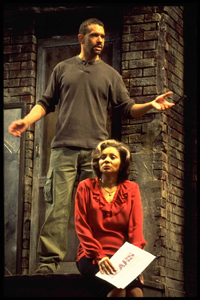 Brian Stokes Mitchell and Leslie Uggamsin King Hedley II(Photo: Joan Marcus)