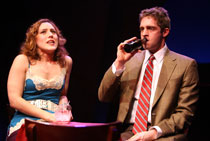 Farah Alvin and Colin Hanlon in I Love You Because (© Joan Marcus)
