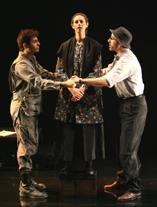 Arian Moayed, Lameece Issaq, and