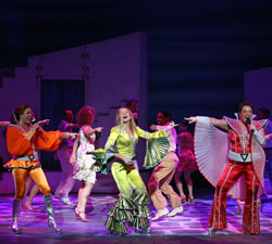 The cast of Mamma Mia