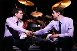 Jarrod Spector and Drew Gehling in Jersey Boys