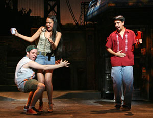 Robin De Jesus, Karen Olivo, and Lin-Manuel Miranda in 
