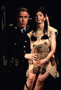 Jeff McCarthy with Spencer Kaydenin Urinetown(Photo: Joan Marcus)