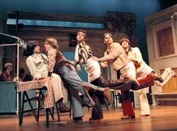 Corey Behnke, Michael Thomas Holmes,Royden Mills, Matt Hoverman, and Gregory Jacksonin The Comedy of Errors(Photo: Ken Howard)