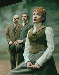Matt Hoverman, Royden Mills,and Erika Rolfsrud in O Pioneers!(Photo: Ken Howard)