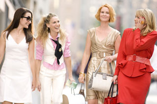 Kristin Davis, Sarah Jessica Parker, Cynthia Nixon, and Kim Cattrallin Sex and the City